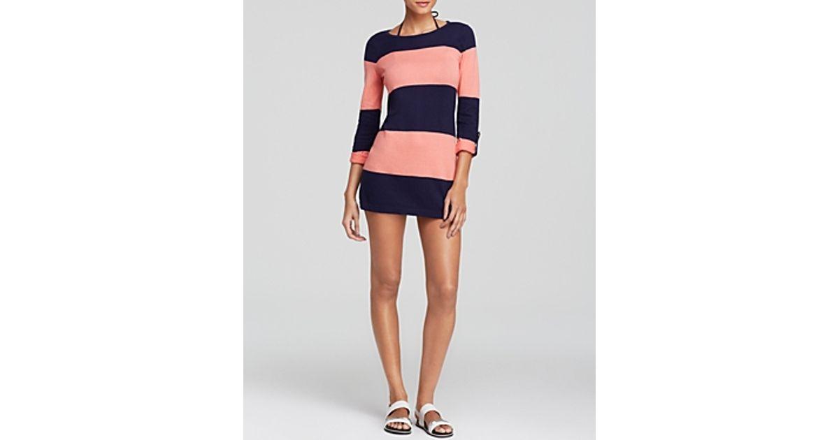 b3d1f79ea0 Lyst - Tommy Bahama Beach Sweaters Bold Stripe Swim Cover Up in Blue