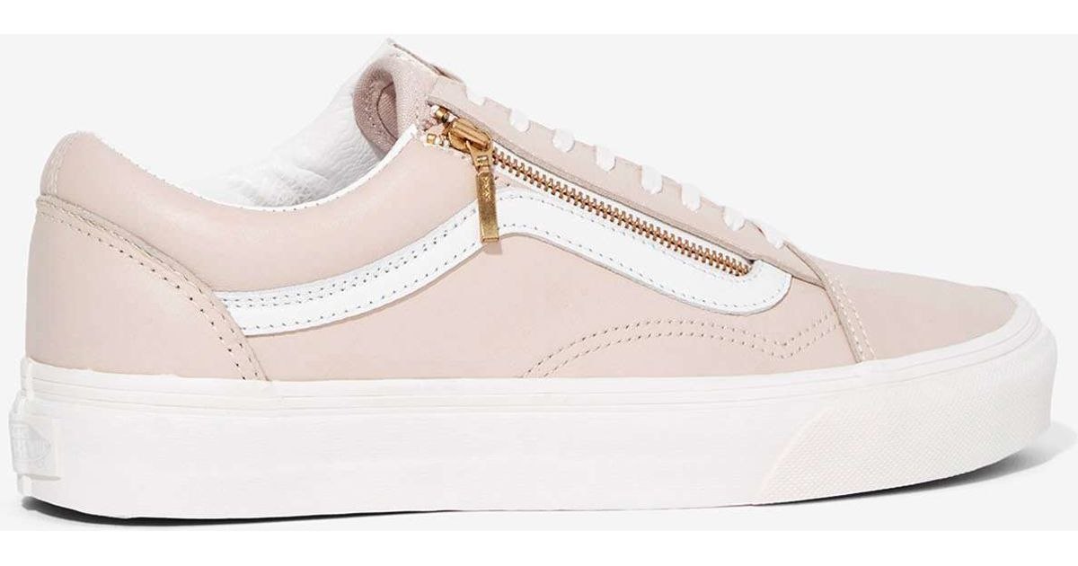 Lyst - Vans Old Skool Zip Leather Sneaker in Pink 485f222cb