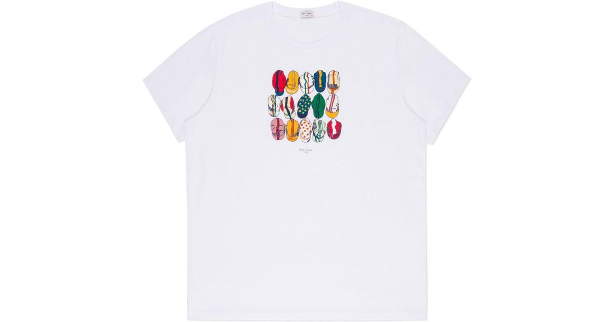 Lyst Paul Smith Cycling Caps Printed T Shirt In White