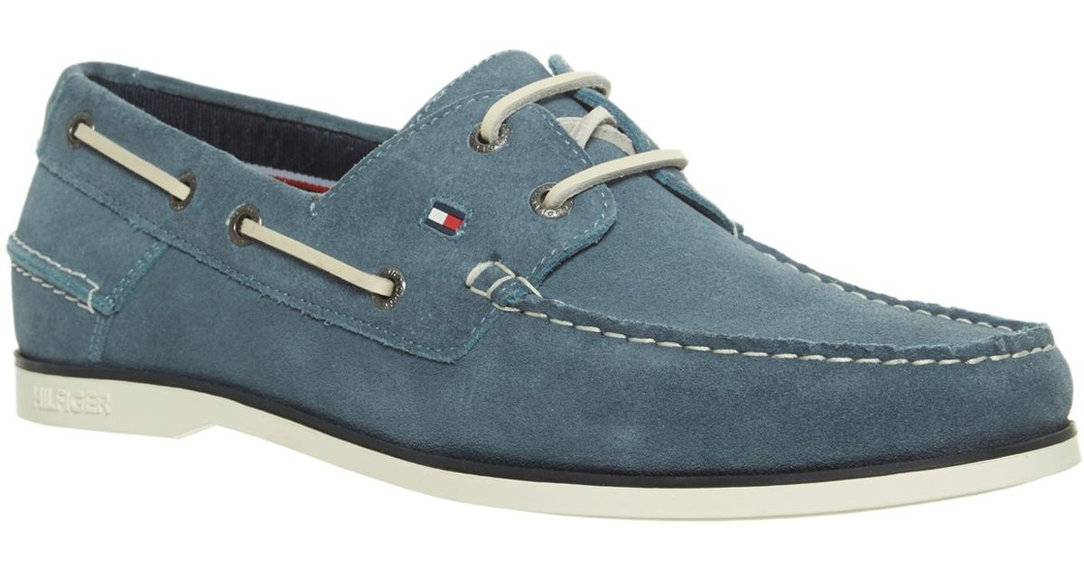 Tommy hilfiger Classic Boat Shoes in Blue for Men | Lyst