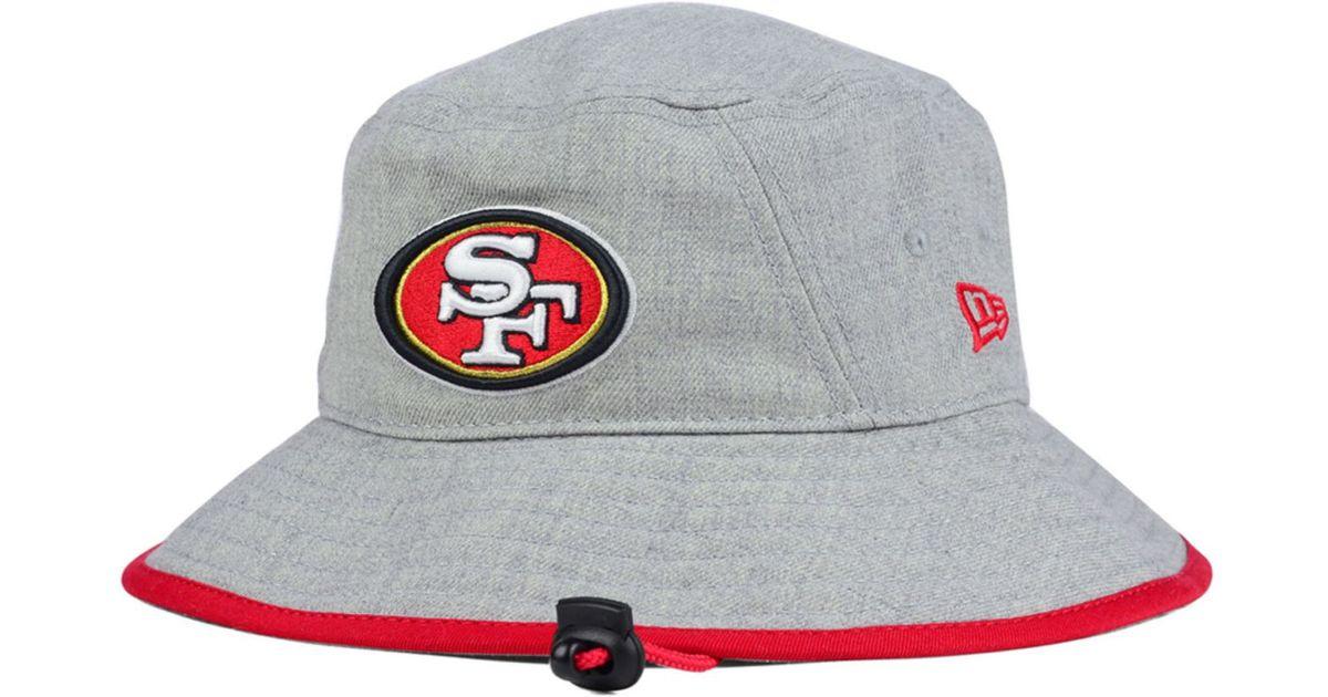 Lyst - KTZ San Francisco 49Ers Nfl Heather Gray Bucket Hat in Gray 3037314160f
