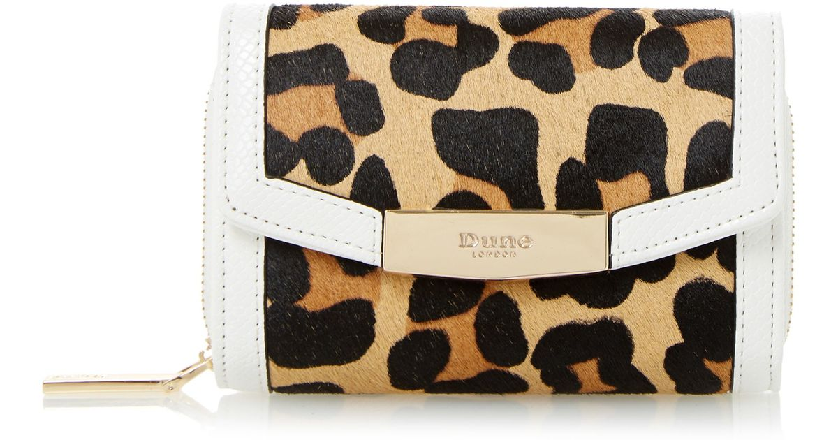 red ysl - Dune Kaitlyn Small Fold Over Purse in Black (Leopard Print) | Lyst