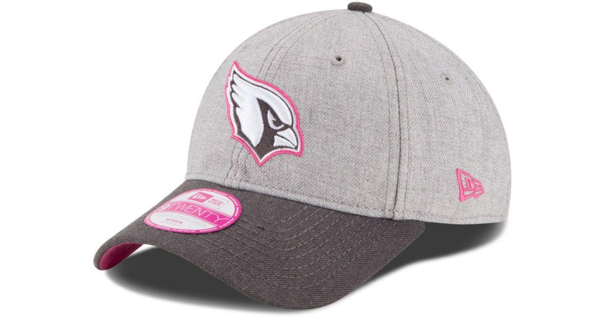new arrival edd4d ae5ba ... where can i buy lyst ktz womens arizona cardinals breast cancer  awareness 9twenty cap in gray