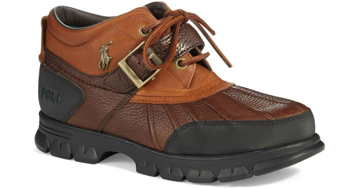 polo ralph dover duck boots in brown for