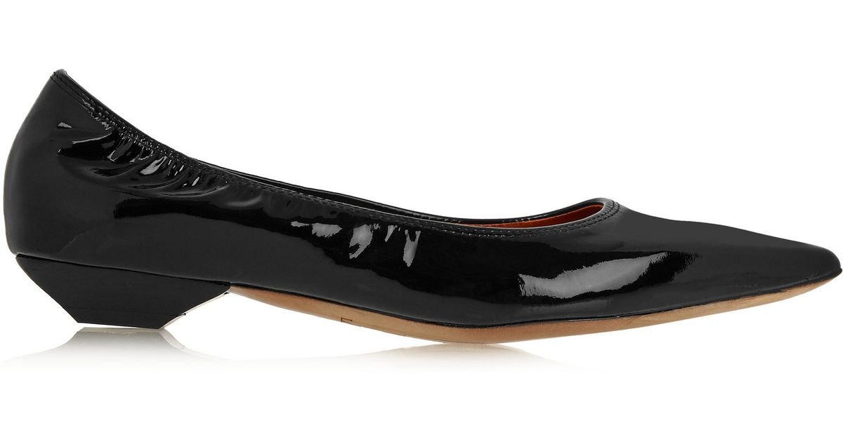 Lanvin Pointed Patent Flats cheap with mastercard discount amazing price outlet wholesale price geniue stockist cheap price cheap discounts T0ikghmB