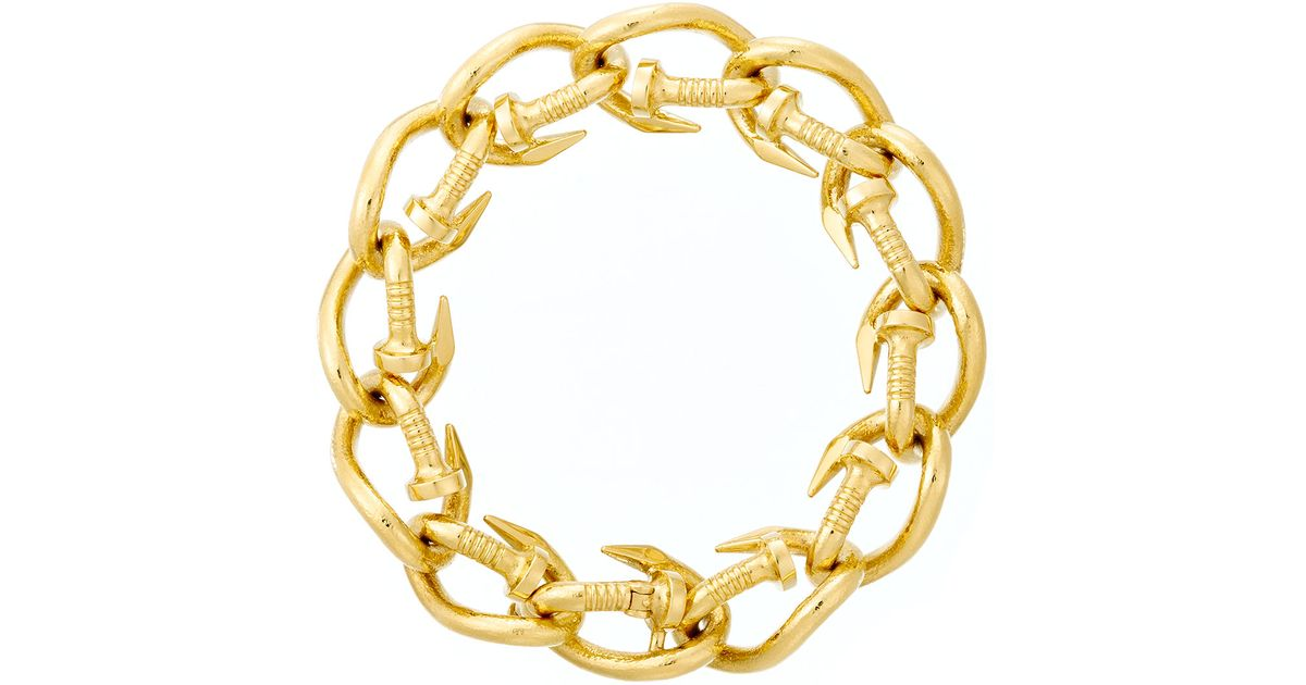 David Webb 18k Polished Nail Link Bangle Bracelet to4T0JKyRx