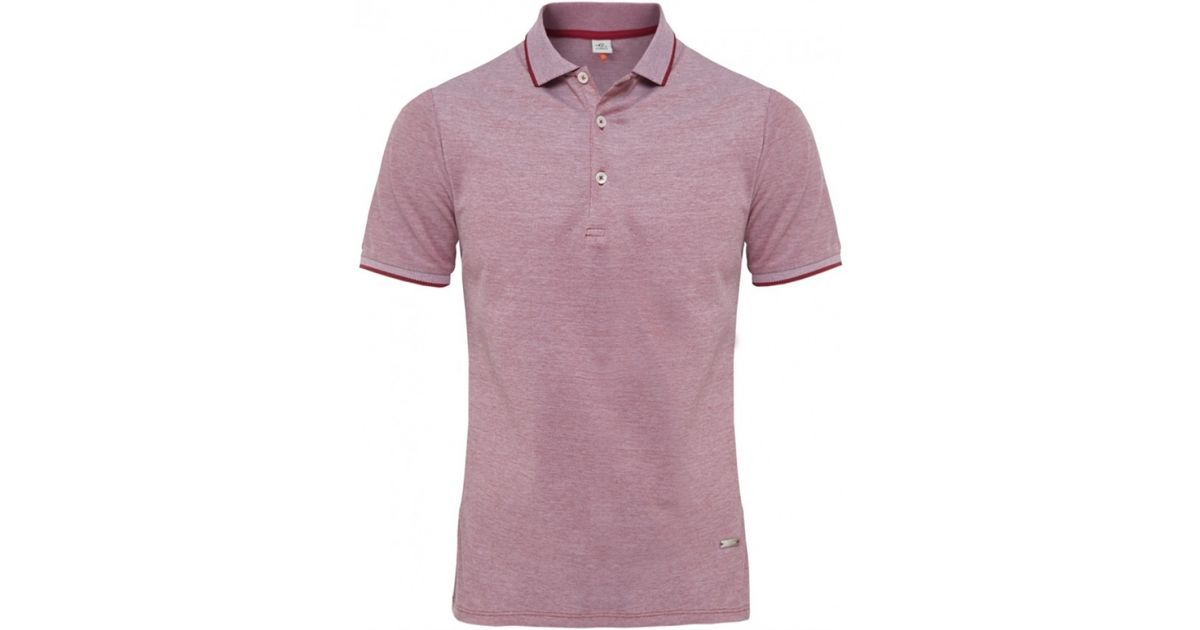 f4cc82bcc6a Cerruti 1881 Mercerised Polo Shirt in Red for Men - Lyst