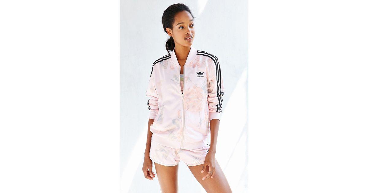d02d596229f Lyst - adidas Originals Pastel Rose Track Jacket in Natural
