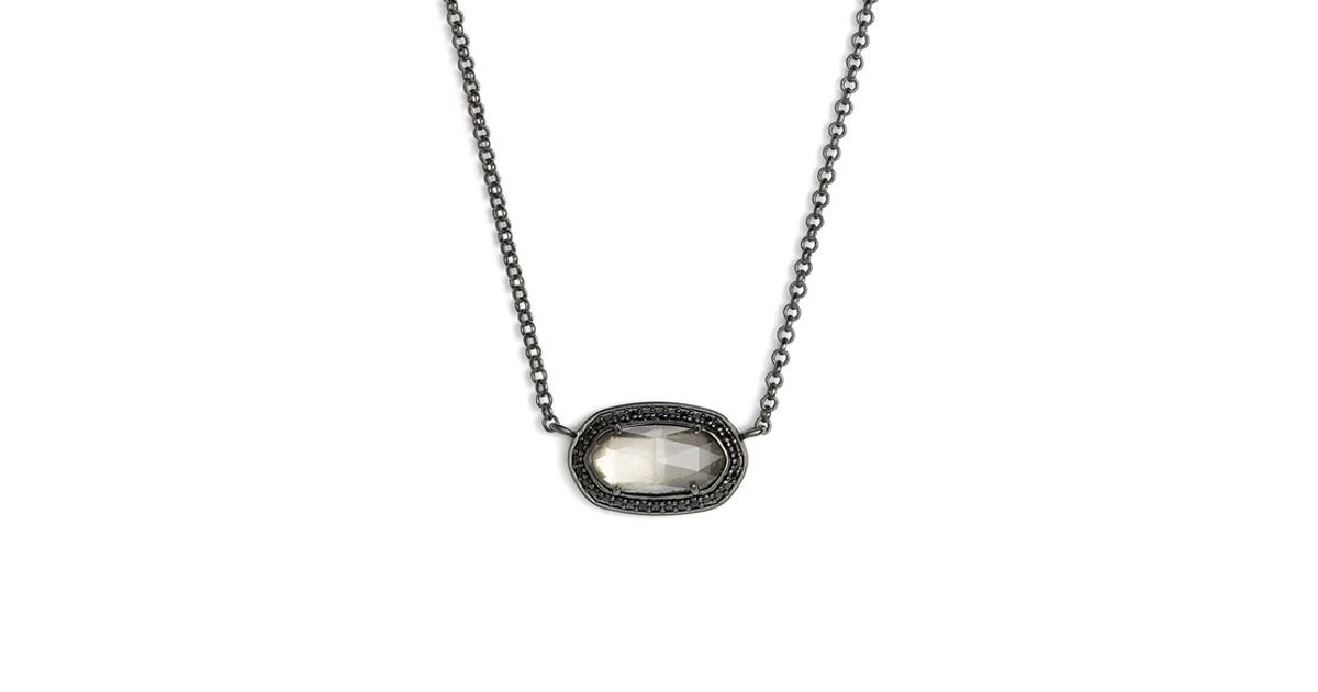 lar silver product mirror chanel necklace authentic vintage