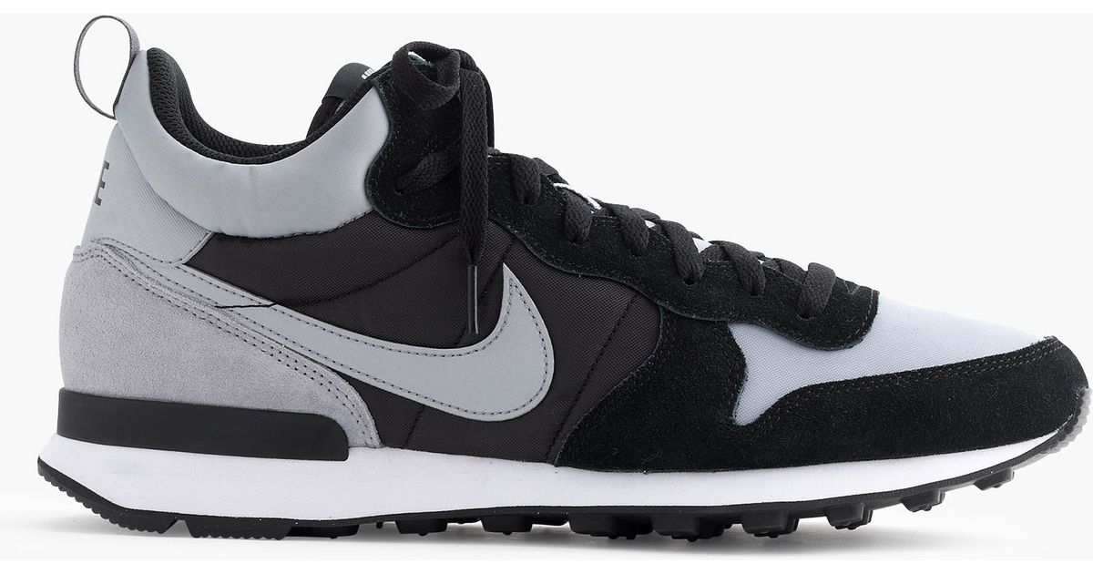 uk availability e32b3 f8a18 Lyst - J.Crew Nike Internationalist Mid Sneakers in Gray for Men