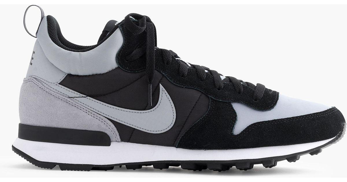 uk availability 1d662 d7834 Lyst - J.Crew Nike Internationalist Mid Sneakers in Gray for Men
