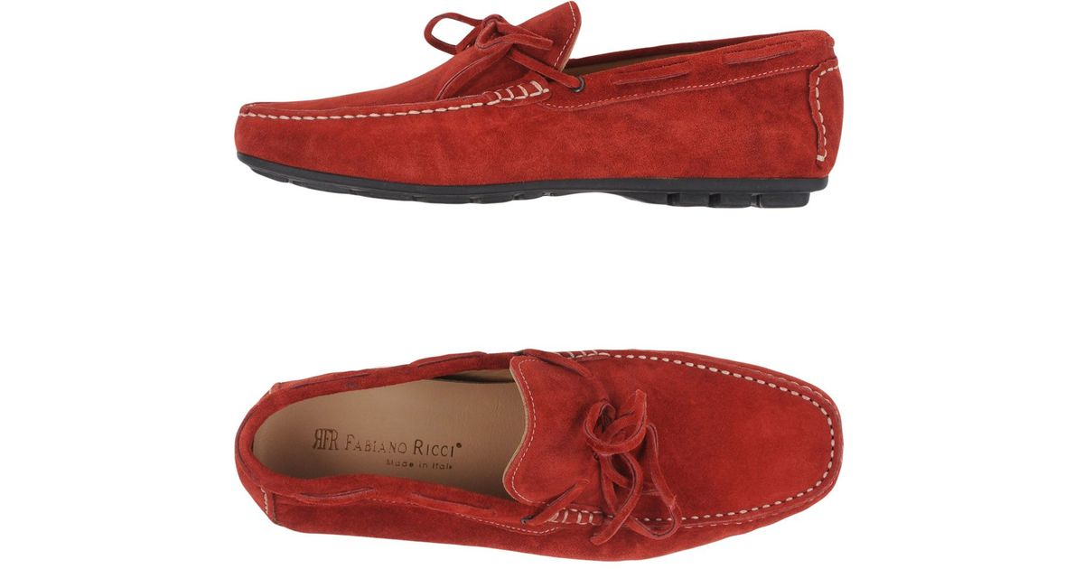 632adcce4 Lyst Fabiano Ricci Moccasins In Red For Men