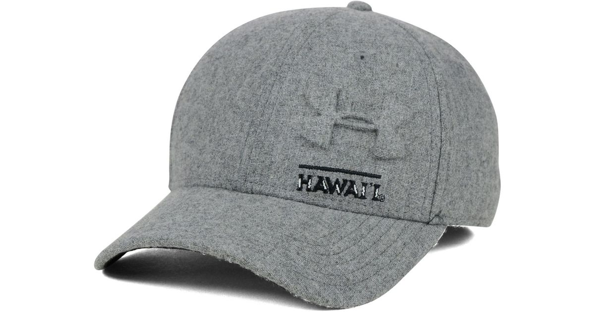 sale retailer ad01c 60d9d ... discount code for lyst under armour hawaii warriors grayout stretch cap  in gray for men d7f31