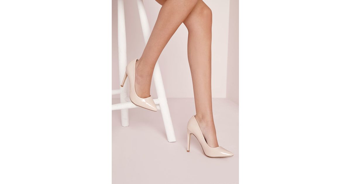 2d8424cc716 Missguided - Natural Pointed Stiletto Court Shoes Nude - Lyst