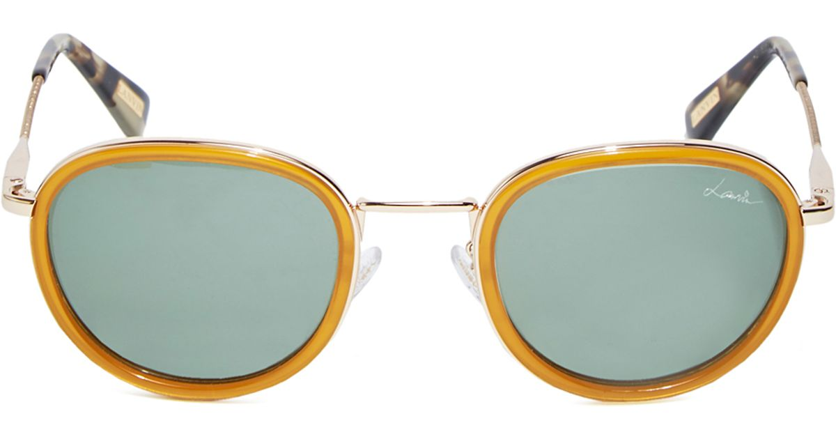 b5fa8c8dc Lanvin Round Frame Sunglasses in Yellow for Men - Lyst