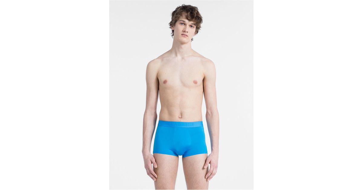 a020eea7800c Lyst - Calvin Klein 205W39Nyc Ck Black Micro Low Rise Trunk in Blue for Men