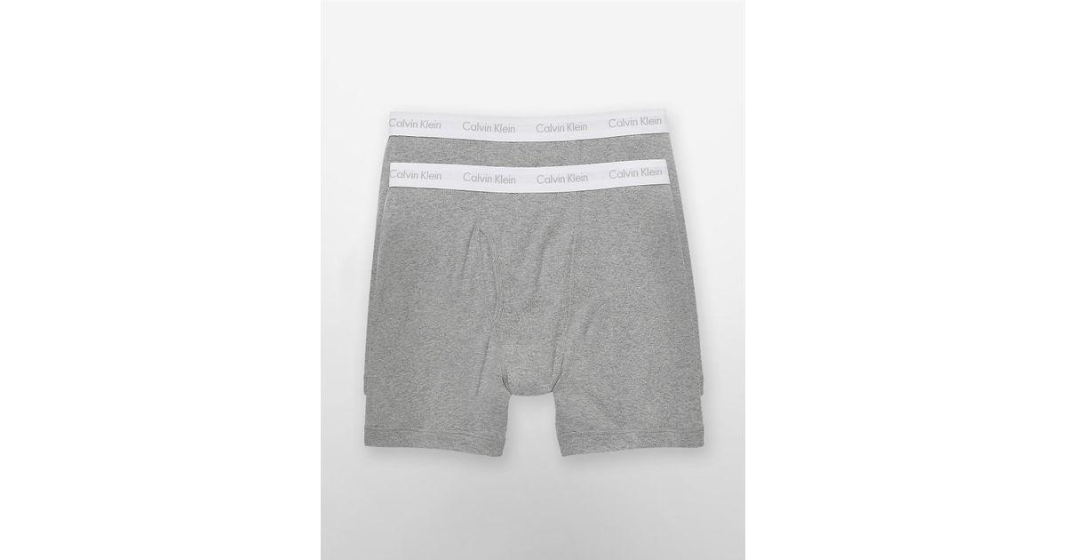 Lyst - Calvin Klein 205W39Nyc Underwear 2 Pack Big + Tall Boxer Briefs in  Gray for Men 27c66da78c6