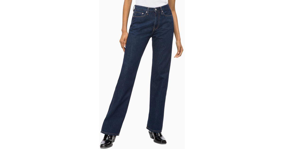 Calvin Klein Ckj 030 High Rise Straight Jeans in Blue - Lyst 820557d503