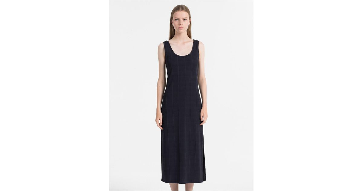 Rib Jersey Maxi Dress Calvin Klein Really For Sale KwoBX0H