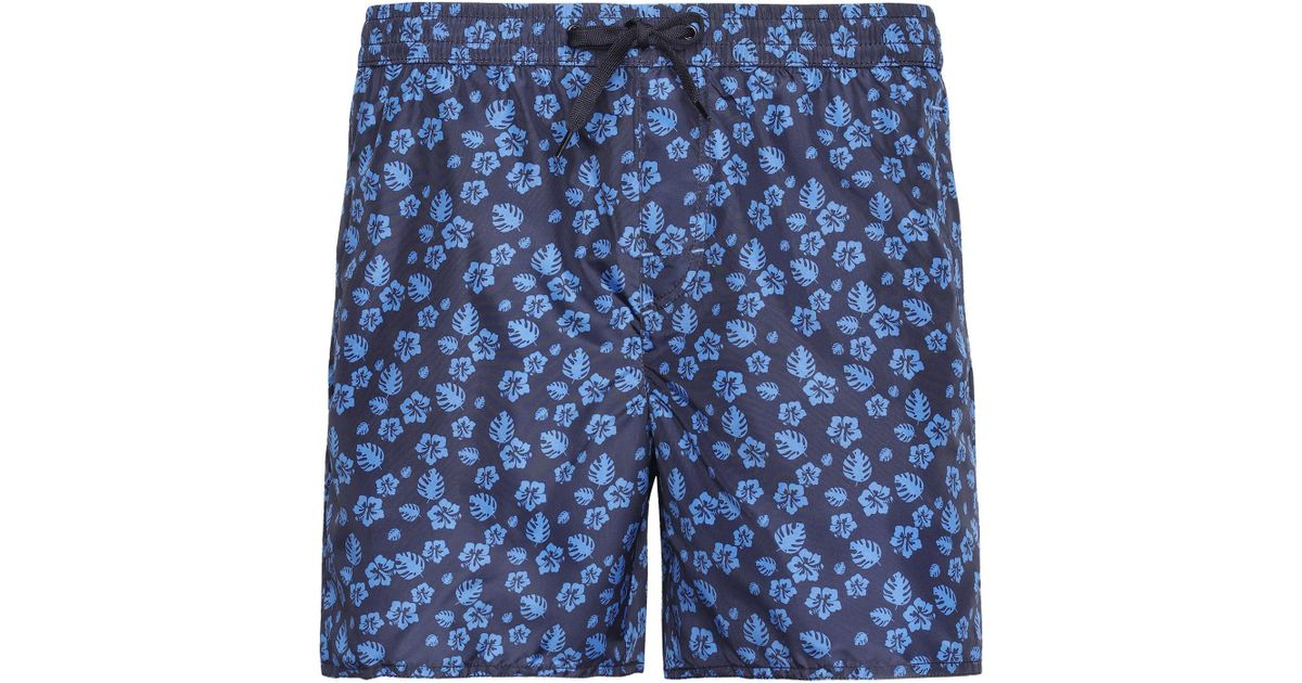 c47e8a0ee7 Lyst - Calzedonia Formentera Patterned Swim Trunks in Blue for Men