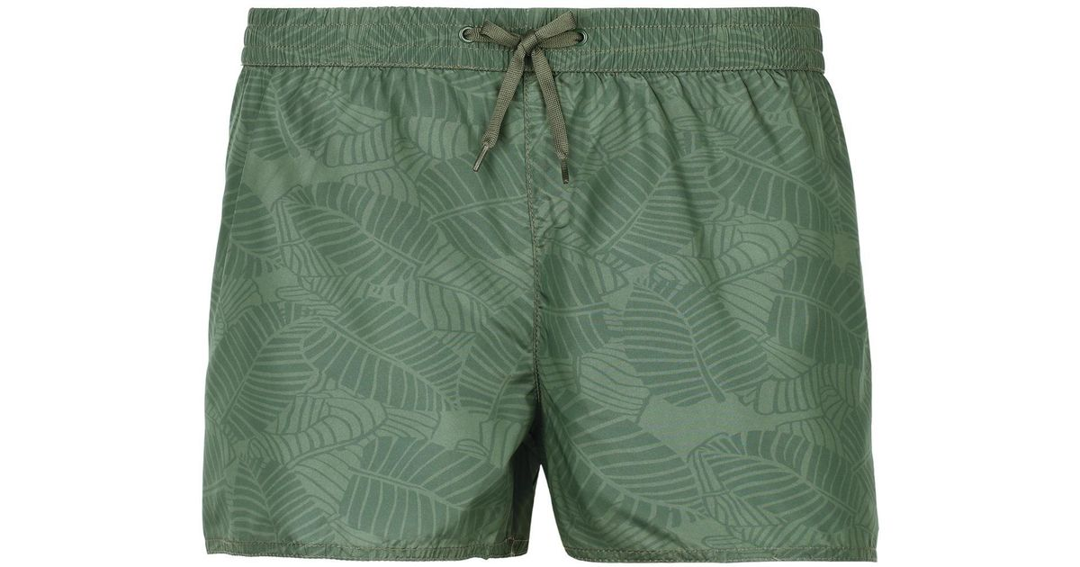 f63680d8d2 Lyst - Calzedonia Ibiza Patterned Swim Shorts in Green for Men