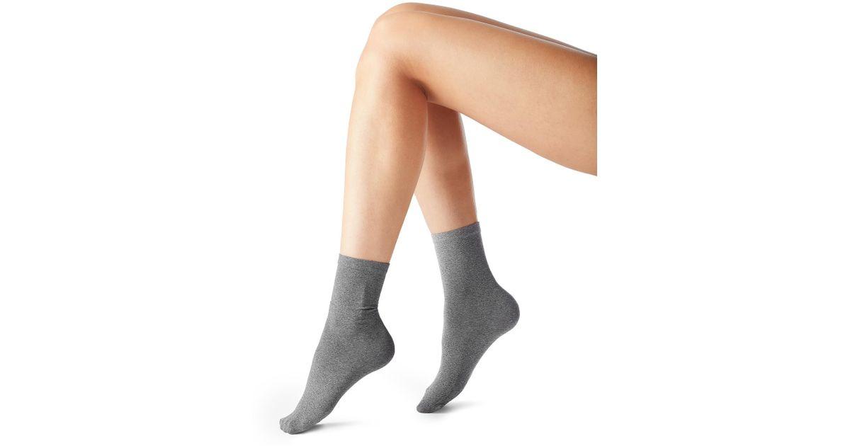 a08365937 Lyst - Calzedonia 50 Denier Opaque Microfiber Socks in Gray