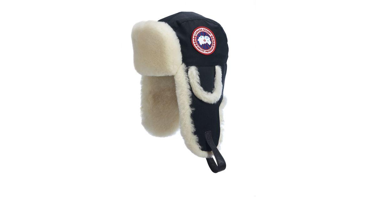 Canada Goose montebello parka replica price - Canada goose Arctic Tech Shearling Pilot Hat in Blue for Men (Ink ...