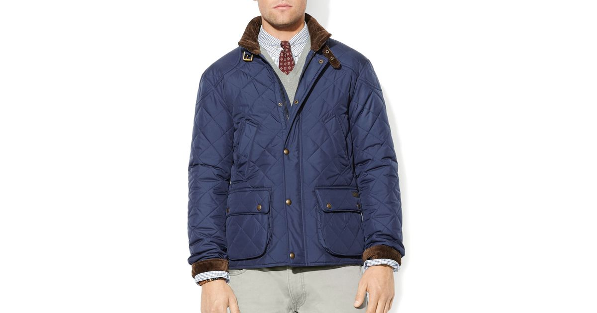 291885707 Lyst - Ralph Lauren Polo Cadwell Quilted Bomber Jacket in Blue for Men