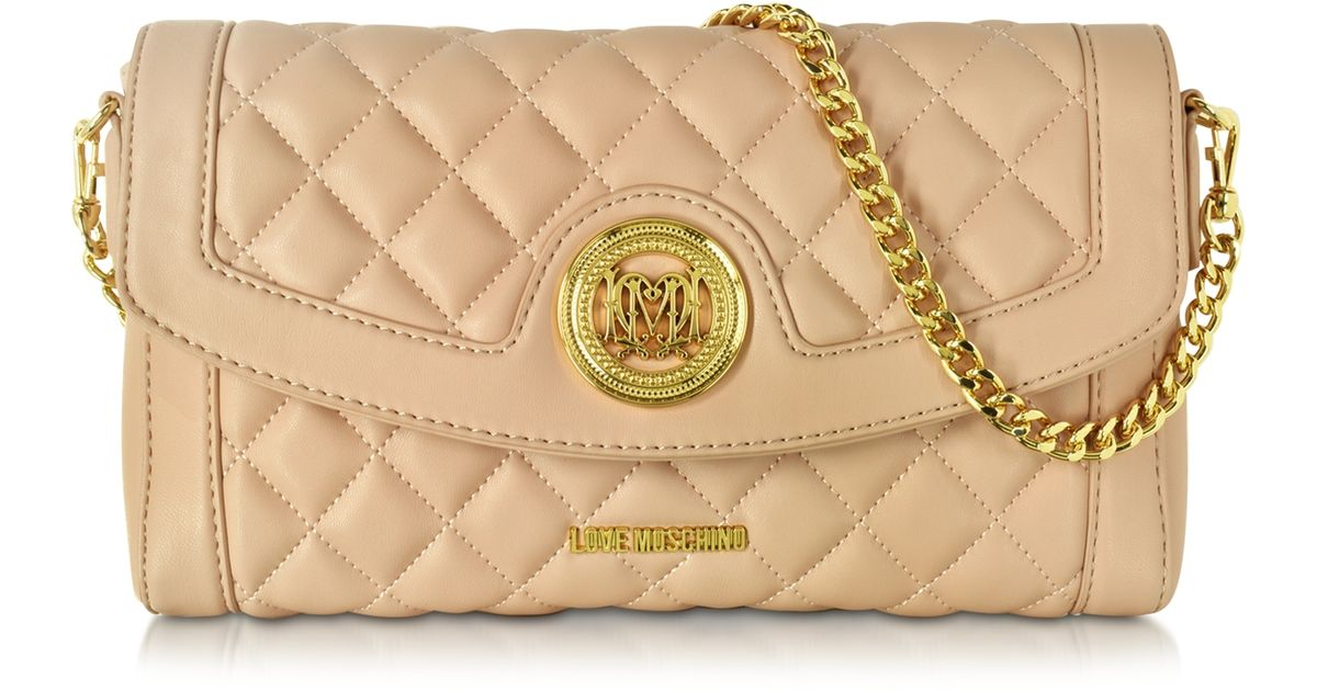 Eco-leather quilted bag Love Moschino ohB54Q3o