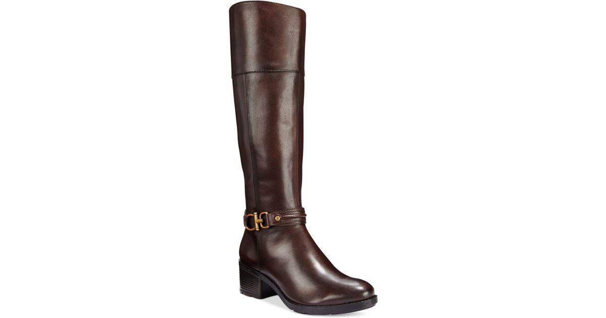 3dd062d7c1e8 Lyst - Bandolino Ulla Riding Boots in Brown