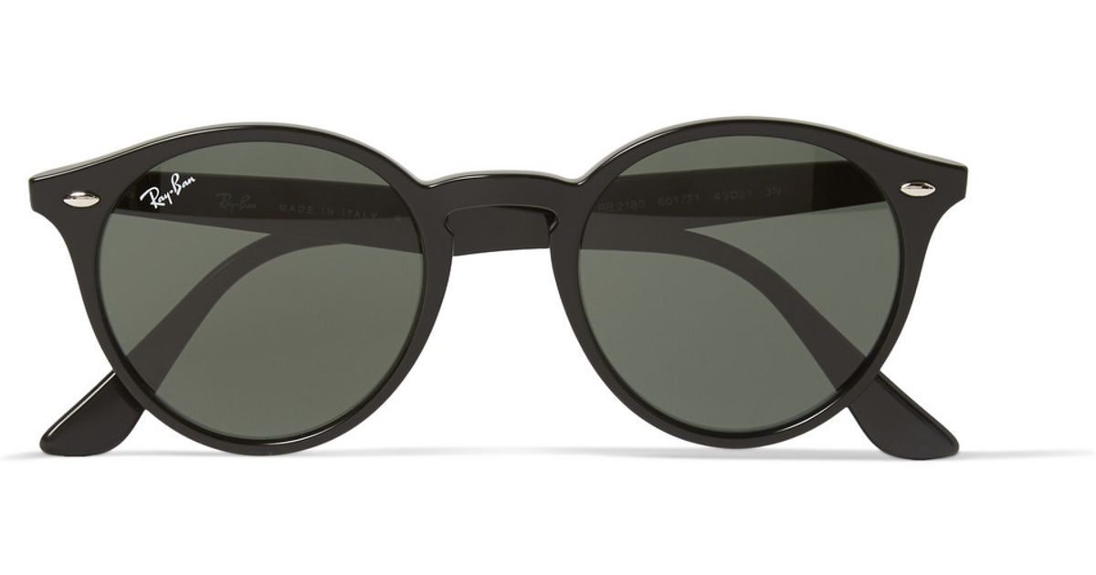 194103b742 Ray-Ban 2180 Round-frame Acetate Sunglasses in Black for Men - Lyst