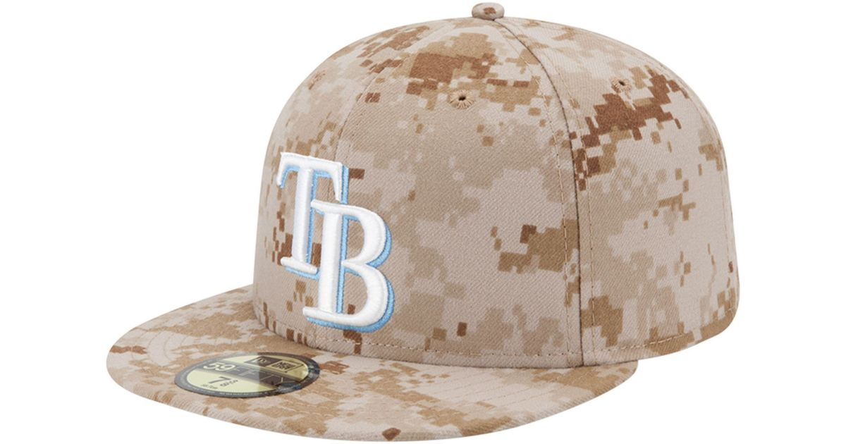 Lyst - KTZ Tampa Bay Rays Mlb Memorial Day Stars Stripes 59fifty Cap in  Natural for Men 6a934f450e7