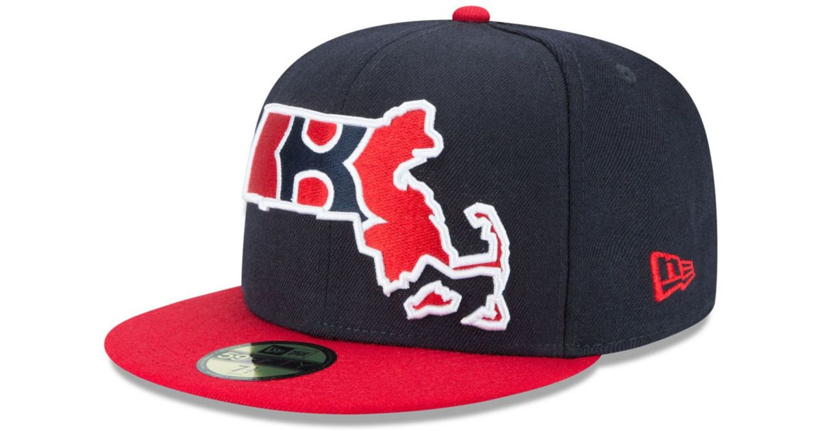 397a7355742 ... cheap lyst ktz boston red sox big state 59fifty cap in blue for men  92ce8 b4aa8