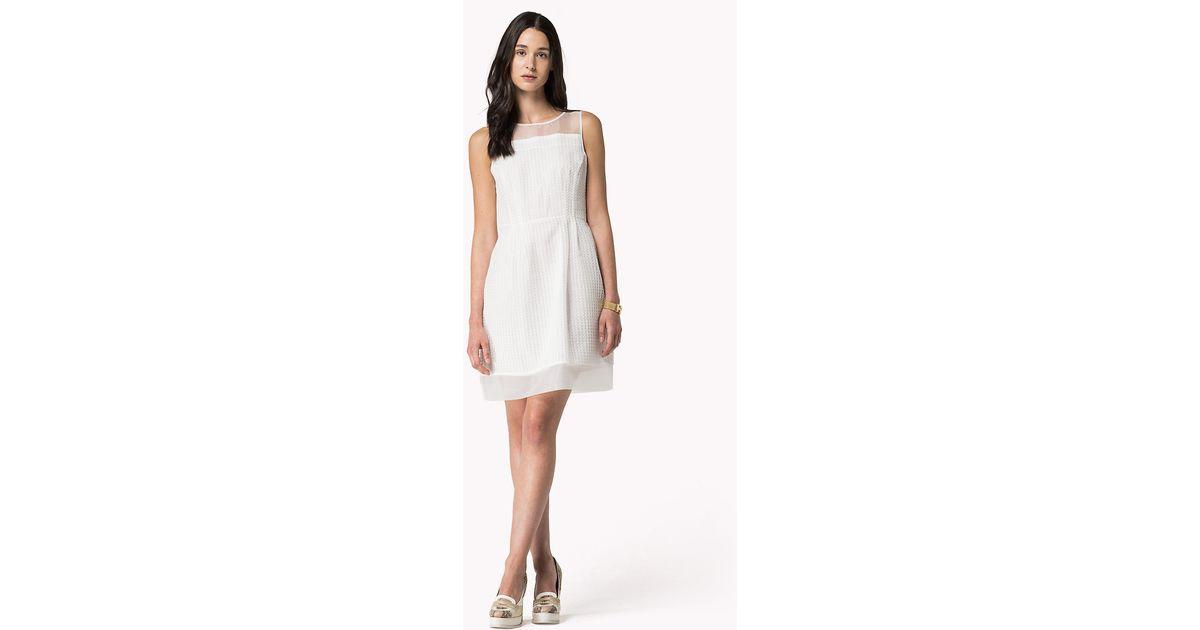 5a6f9d85a2b Tommy Hilfiger Lace Dress in White - Lyst
