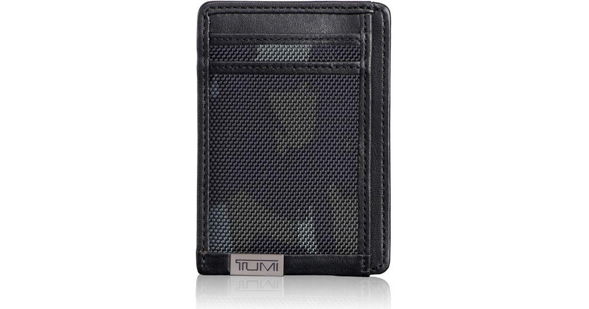 Lyst - Tumi \'Alpha\' Ballistic Nylon Camo Money Clip Card Case in ...