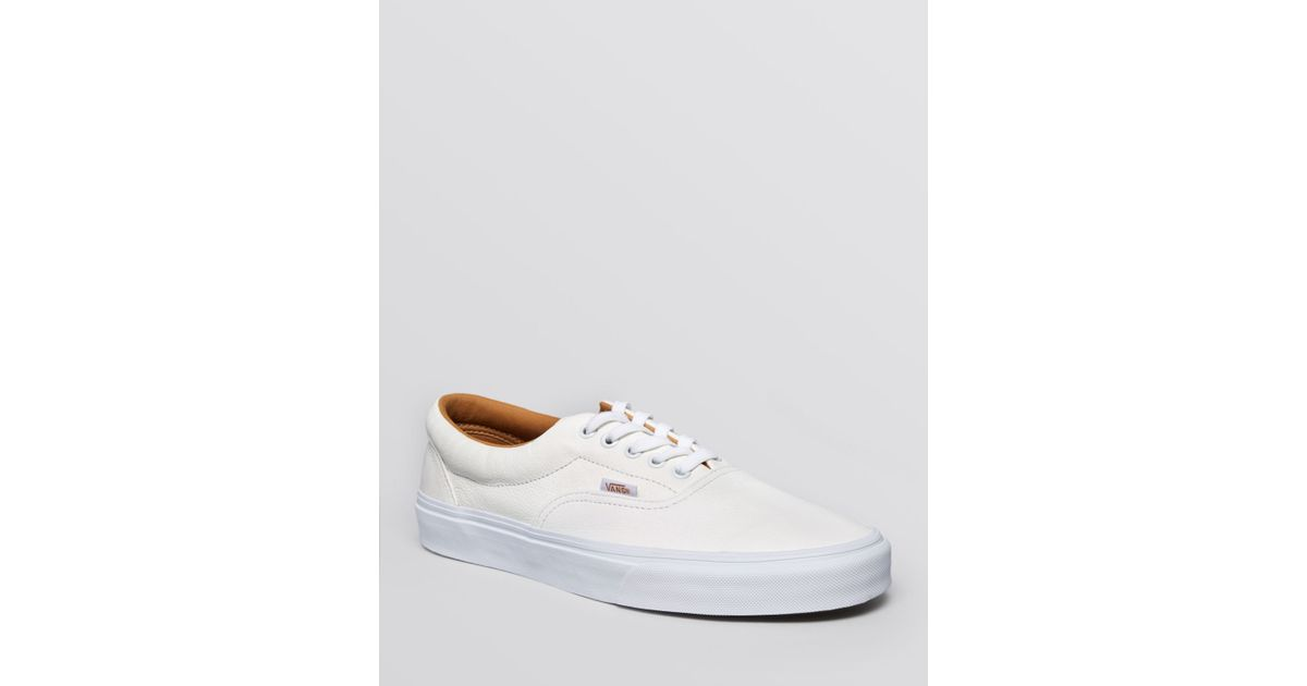 6afcf943391 Lyst - Vans Era Premium Leather Lace-Up Sneakers in White for Men