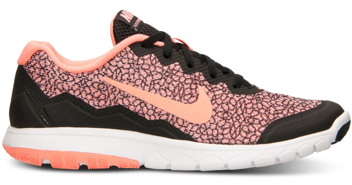 0d6184802b98 Lyst - Nike Women s Flex Experience Run 4 Premium Running Sneakers From  Finish Line in Pink