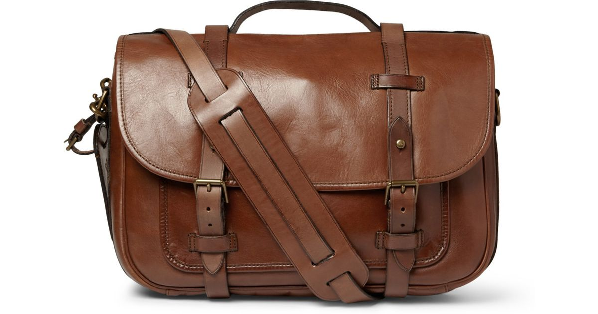 f86ba8bf173c Polo Ralph Lauren Leather Messenger Bag in Brown for Men - Lyst