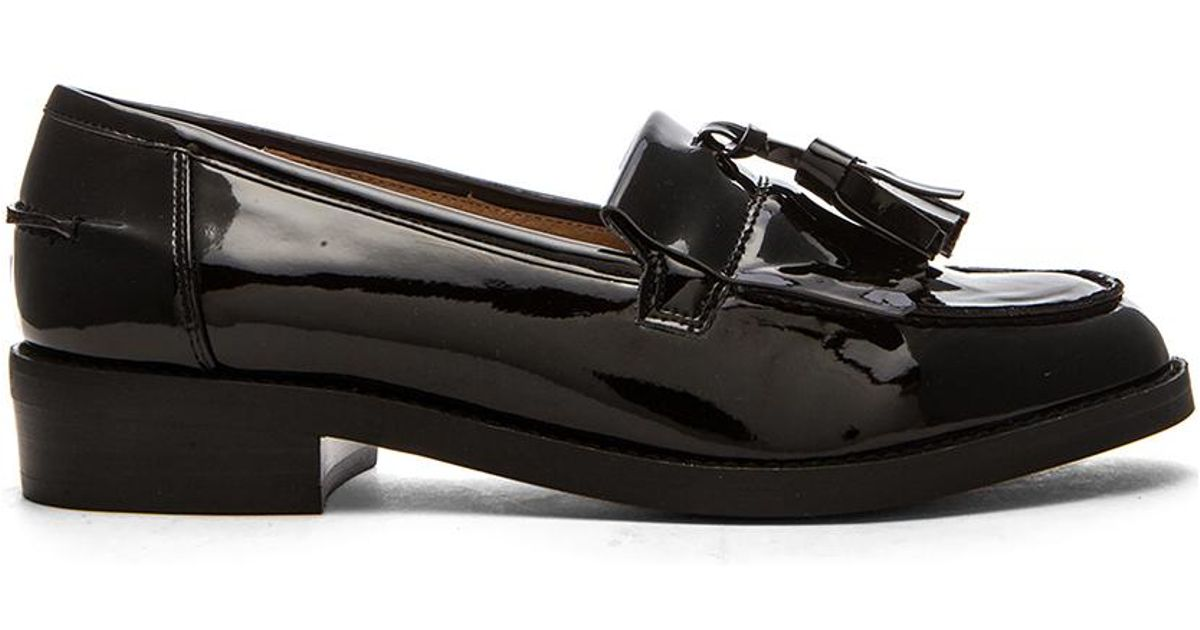 Steve madden Meelia Loafer in Black | Lyst