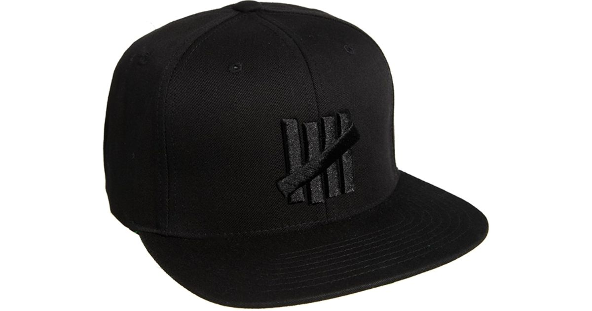 65316d3ef7682 Undefeated 5 Strike Snapback Cap in Black for Men - Lyst