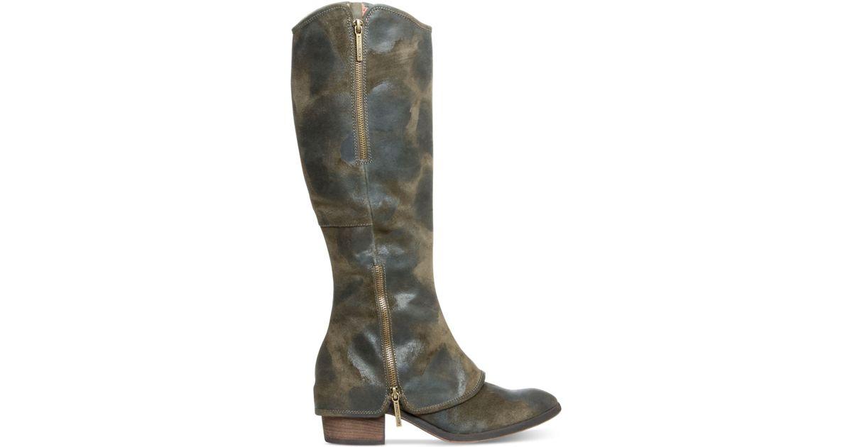 fed79141179 Lyst - Donald J Pliner Donald J Pliner Devi Tall Wide Calf Boots in Green