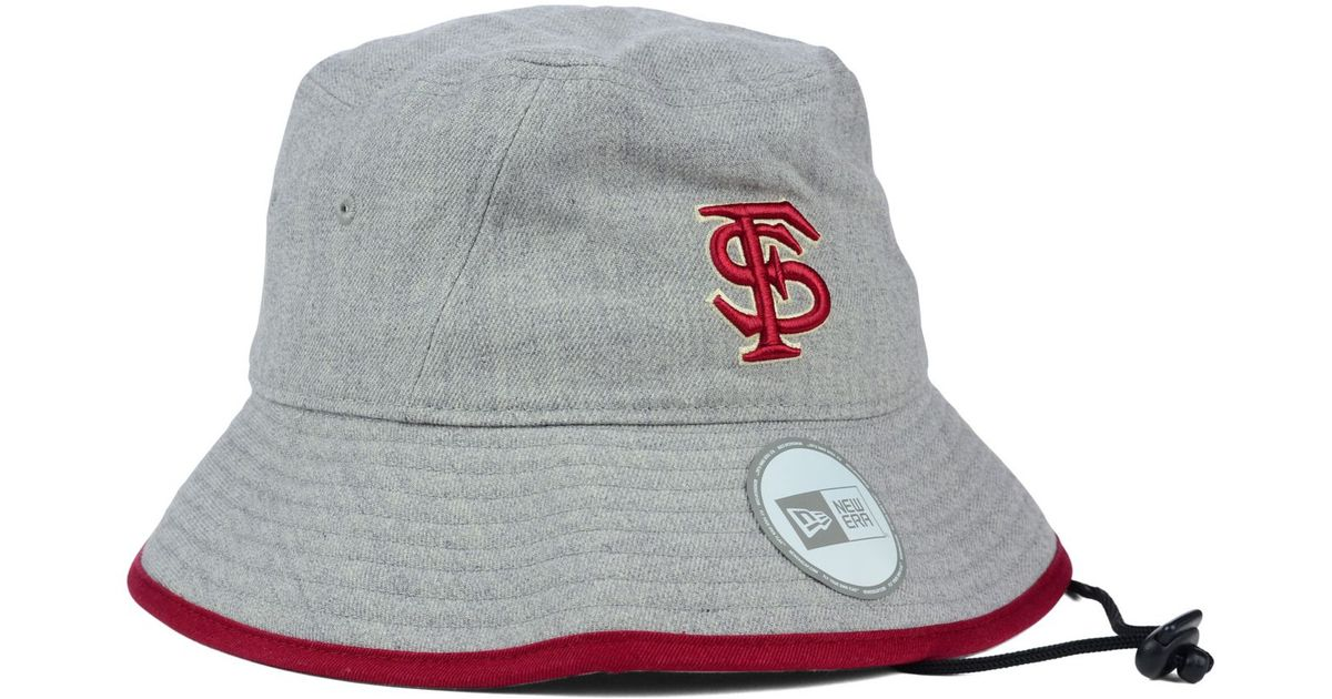 c50af616542 ... norway lyst ktz florida state seminoles tip bucket hat in gray 54317  17986