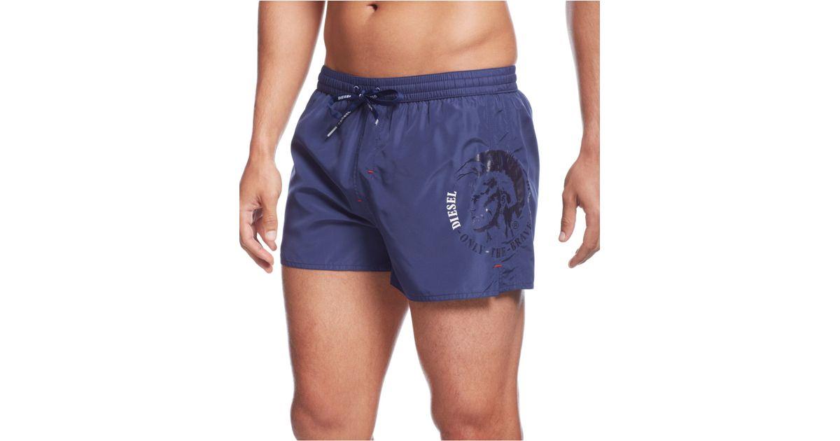 6a5de39a69 DIESEL Bmbx-Coralrif Swim Trunks in Blue for Men - Lyst