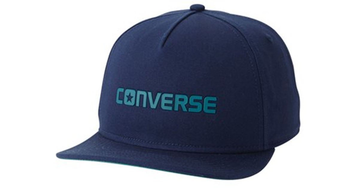 Lyst - Converse Logo Snapback Cap in Blue for Men 08824a9161c
