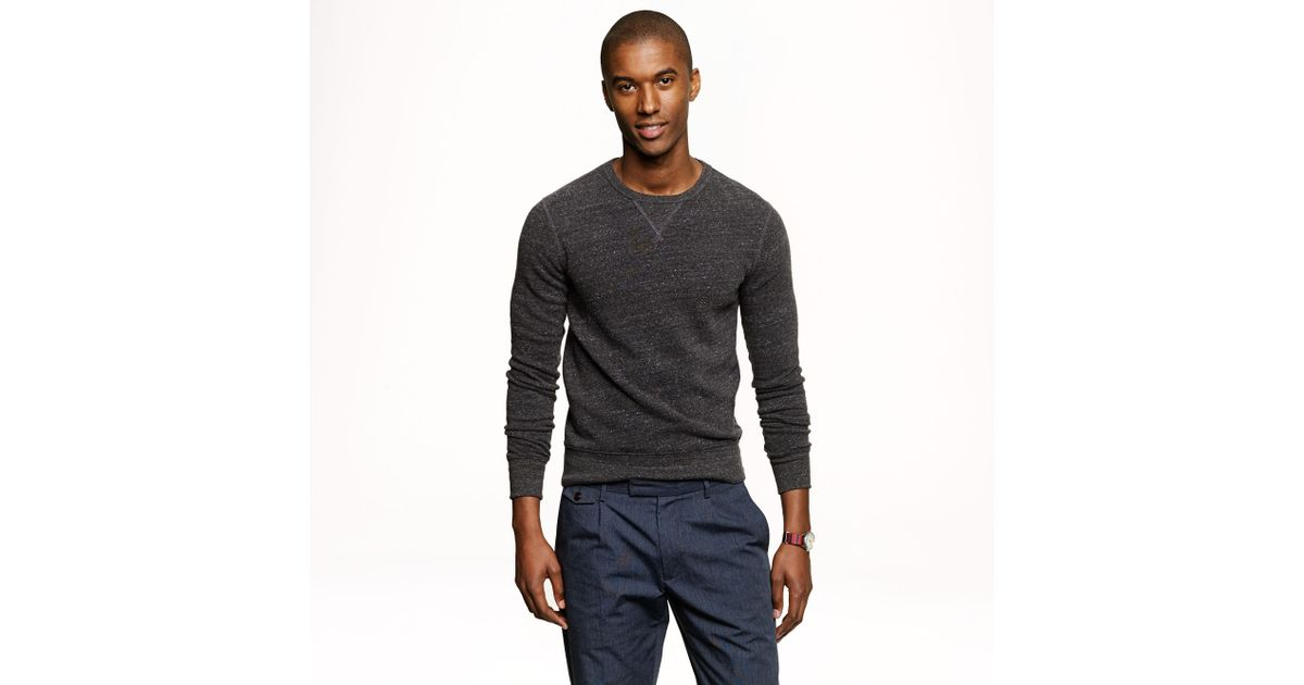 J.crew Preorder Slim Lightweight Crewneck Sweatshirt in Black for ...