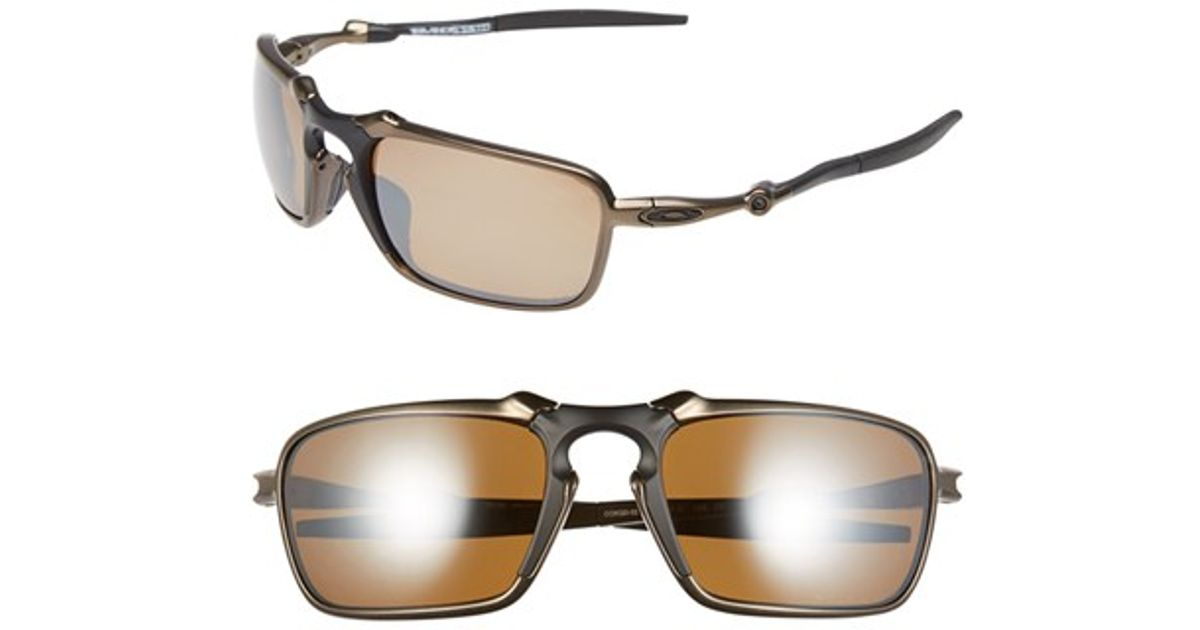 51fecf75725d4 Oakley  badman  60mm Polarized Sunglasses - Pewter  Tungsten Iridium in  Metallic for Men - Lyst
