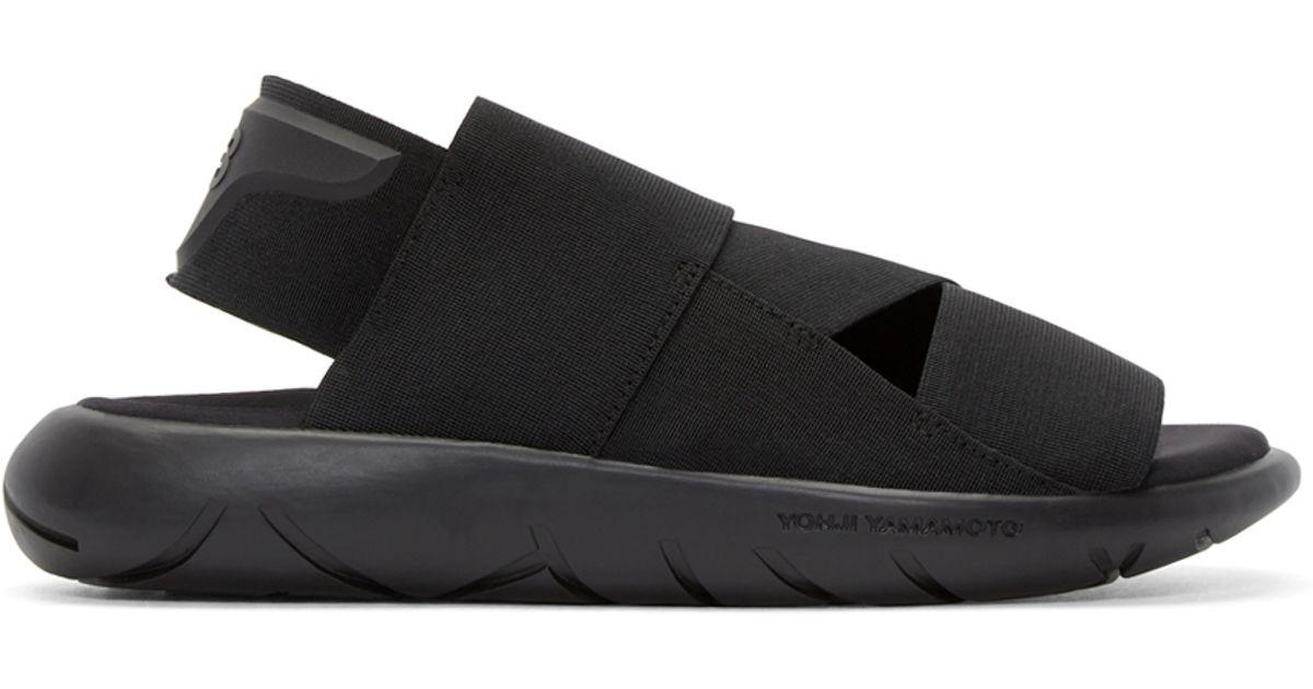 bf511c43a3d7e Lyst - Y-3 Black Qasa Sandals in Black for Men