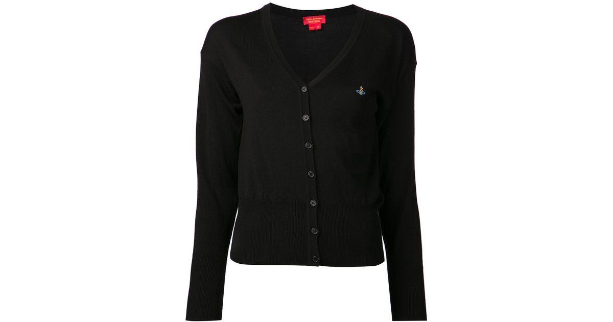 Vivienne westwood red label Basic Cardigan in Black | Lyst