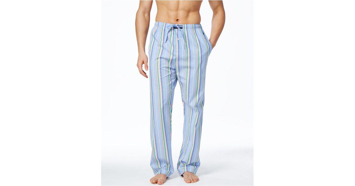 polo ralph lauren men 39 s key west stripe woven pajama pants. Black Bedroom Furniture Sets. Home Design Ideas