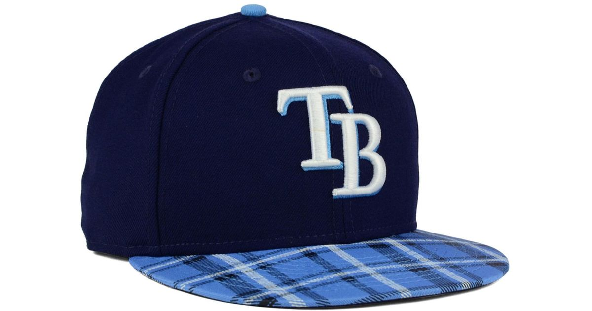 new style 871a8 0aa59 KTZ Tampa Bay Rays Plaid 9fifty Snapback Cap in Blue for Men - Lyst